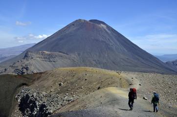 Ngauruhoe volcano hiking, New Zealand