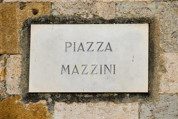 Targa Indicazione Piazza Mazzini, Pisa