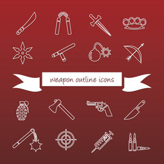 weapon outline icons