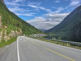 Beautiful scenario of Norway countryside in summer season poster