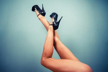 Sexy female legs in high heels