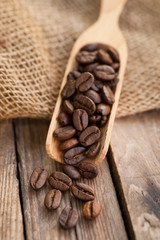 Fresh espresso beans