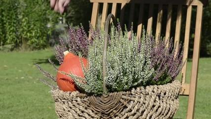 Blumenkorb dekorieren