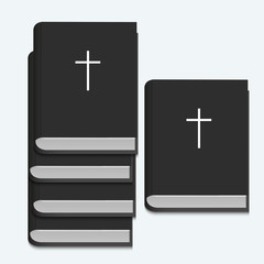 Vector bible on white background