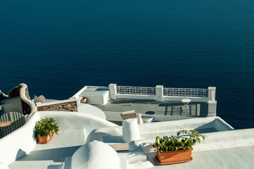 FIRA,GREECE-SEPTEMBER,02,2014:view of caldera in Fira,Santorini