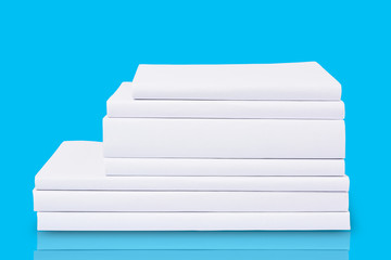 Stack of White Cover Book