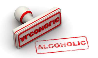Алкоголик (alcoholic). Печать и оттиск