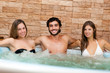 Friends relaxing in a spa