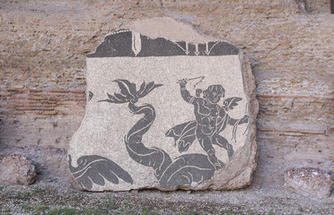 Ancient Roman Mosaic Tile