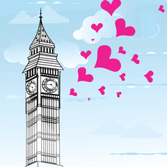 I love You London Poster Design