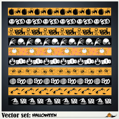 vector set: pattern to prepare for the holiday Halloween