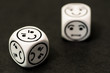 dice with emoticon sides
