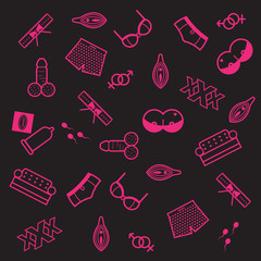 erotic icon pattern