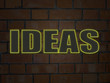 """IDEAS"" Neon Sign (innovation solutions creativity brain)"