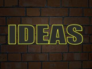 """IDEAS"" Neon Sign (innovation solutions creativity brain)"