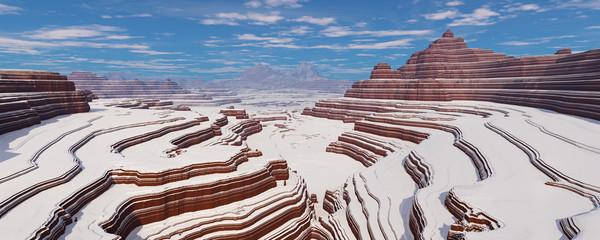Заснеженный каньон.