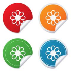 Flower sign icon. Blossom symbol.