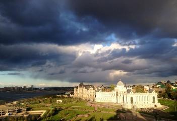 view of Kazan in autumn day, Tatarstan, Russia
