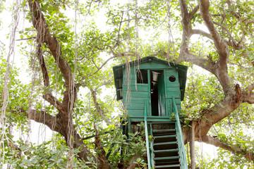 Closeup of a Watch tower at Jhirna Forest, Jim Corbett