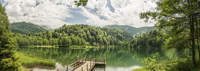 Beautiful lake and pier