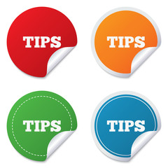 Tips sign icon. Service money symbol.