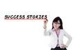 Female motivator writes success stories