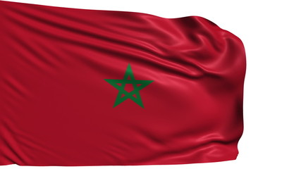 flag of Morocco with fabric structure; looping