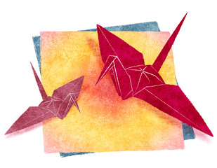 折り紙-鶴