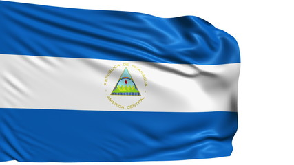 flag of Nicaragua with fabric structure; looping