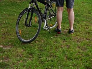 Fahrradfahrerbeine