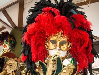 Venetian carnival mask, Venice. Italy