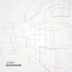 Colorful Abstract Lines Background. Vector illustration.