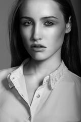 Sensual model close up portrait