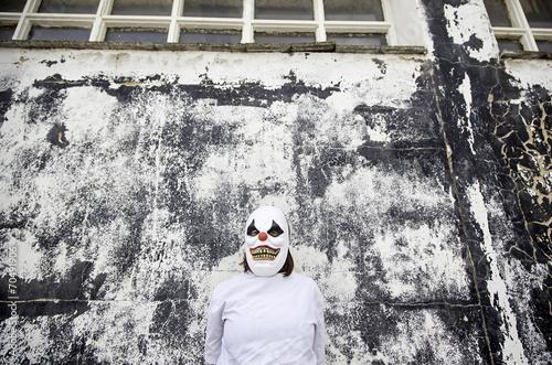Staande foto Imagination Clown urban street