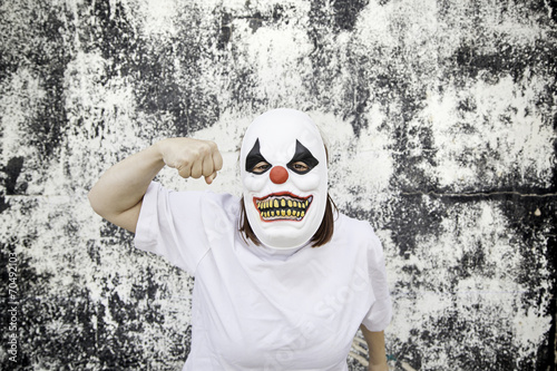 Staande foto Imagination Clown punch