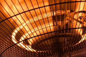 Electric heater closeup photo