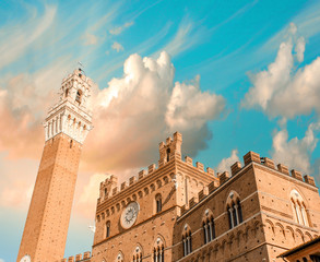 Siena, Italy. Beautiful view of Piazza del Campo