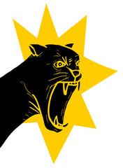 Furious panther