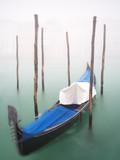 Gondel in Venedig im Winter