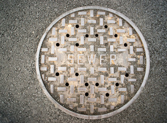 Vented Manhole Sewer Main Cover Asphalt Side Street Water Drain