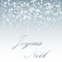 Joyeux noël sur fond de neige