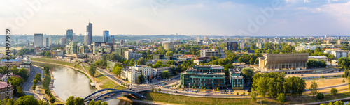 Fotobehang Oost Europa Panorama of Vilnius - Lithuania