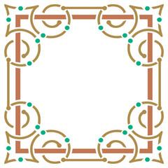 Simple and elegant colorful border frame
