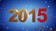 4K VID - Here Comes The New Year 2015 - Blue - ray-traced
