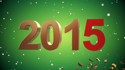 4K VID - Here Comes The New Year 2015 - Green - ray-traced