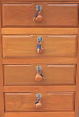 Wood drawer by teak wood vintage style