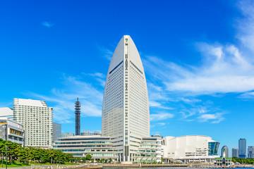 Buildings of Minato Mirai 21 area in Yokohama, Japan