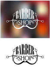 Barber shop icon or emblem