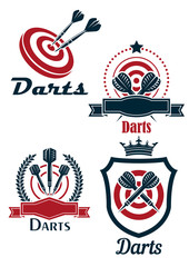 Darts sporting emblems