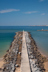 Breakwater in Portimao bay, Portugal
